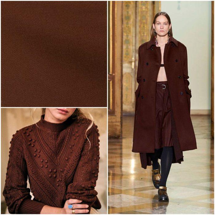 koyu kahverengi Trendy renkler kış 2022