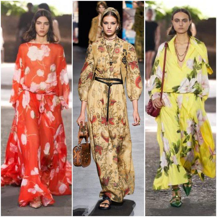 büyük çiçekler moda baskıları yaz 2022