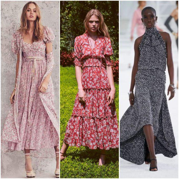 çiçekler küçük moda baskılar yaz 2022