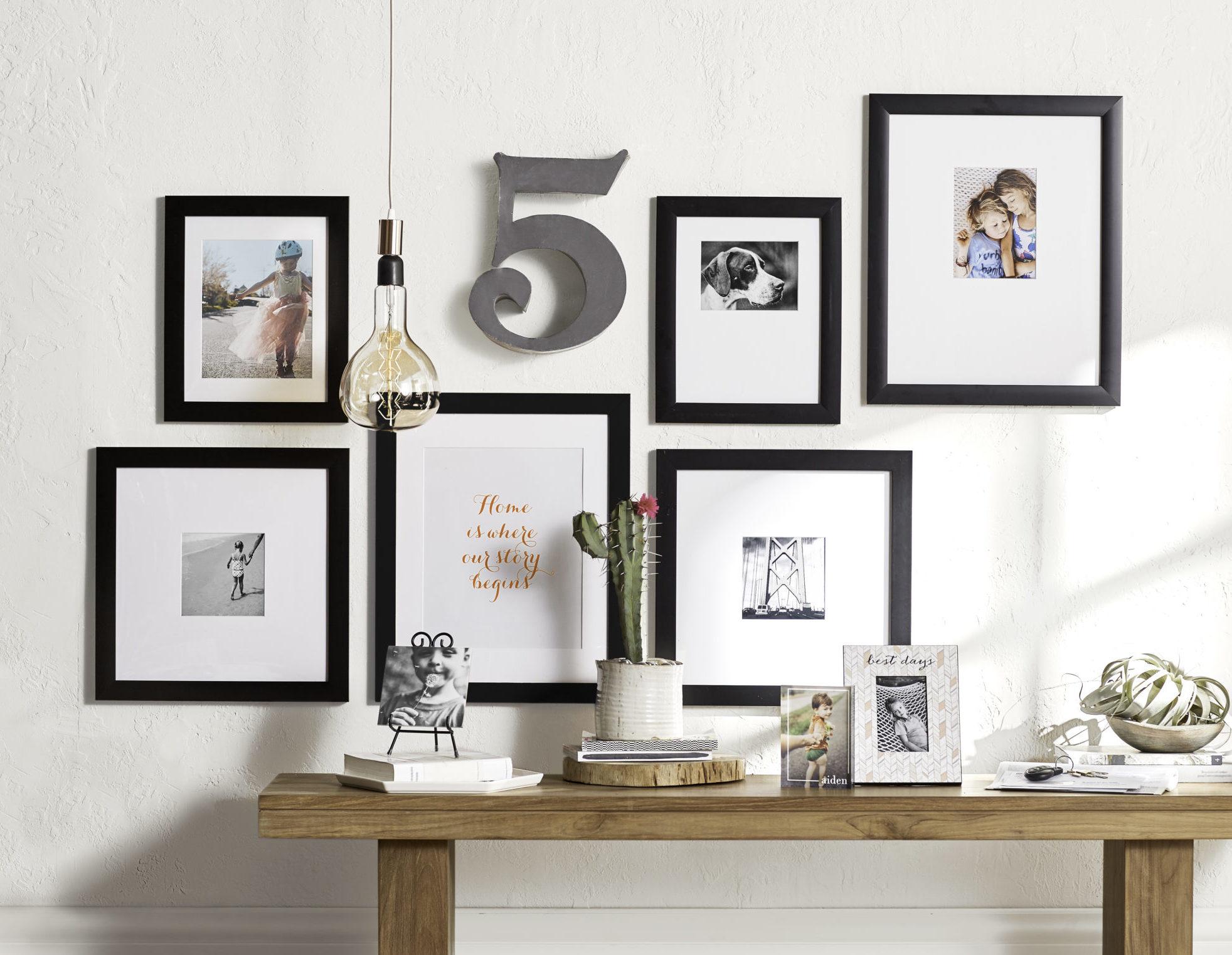paspaslı özel siyah modern resim çerçeveleri
