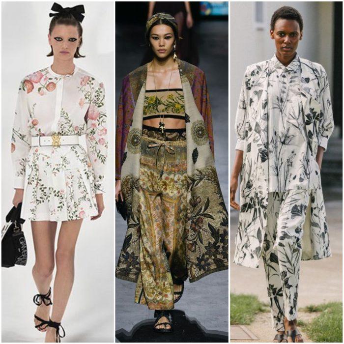 doğada çiçekler moda baskılar yaz 2022