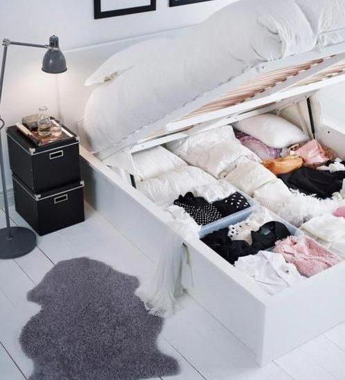 küçük yatak odası döşemek