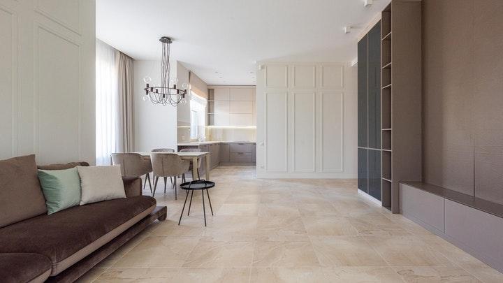 mutfak ve oturma odası birleşik