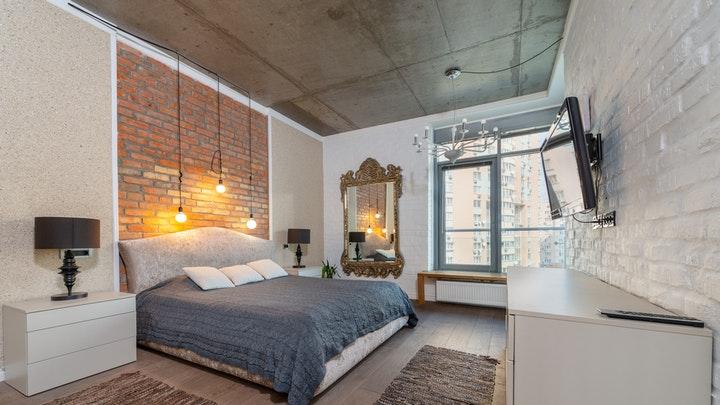 yatak odasında ampul görünümü