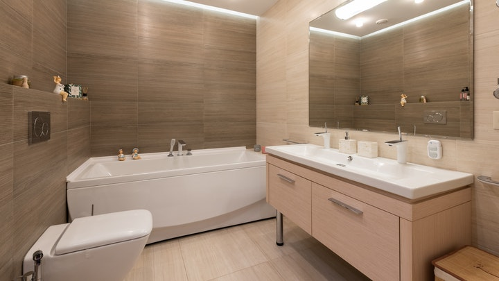 çift lavabolu banyo tasarımı