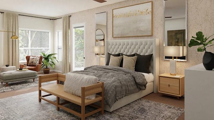 yatak ve oturma alanı