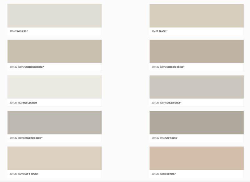 Jotun Renk Kartelası-Kataloğu İç Cephe Boyası