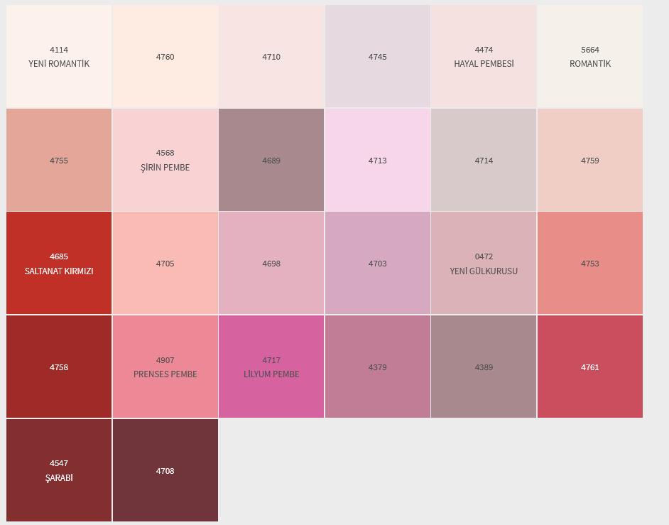 KIRMIZI-MAGENTA İç Cephe Renklerimiz DYO