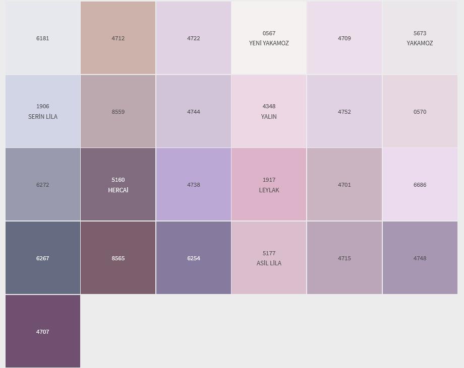 MOR-LİLA İç Cephe Renklerimiz DYO
