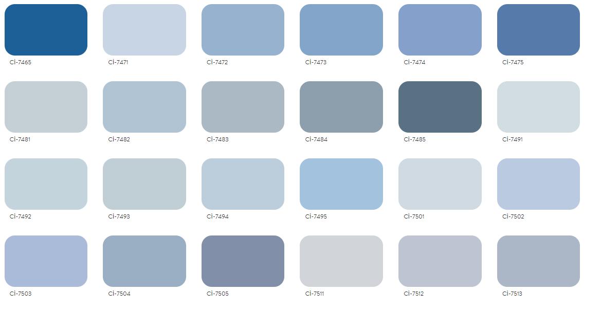 Polisan Renk Açık Mavi Renk Şeması