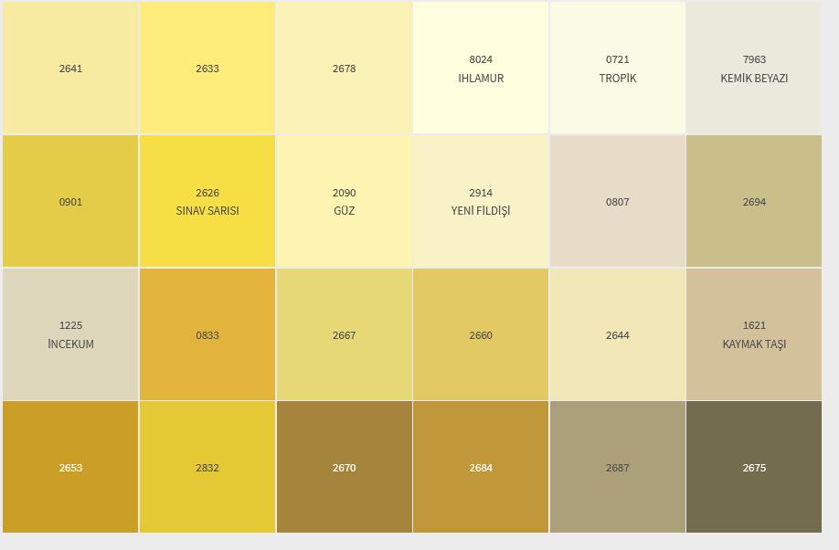 Sari Hardal- İç Cephe Renklerimiz DYO