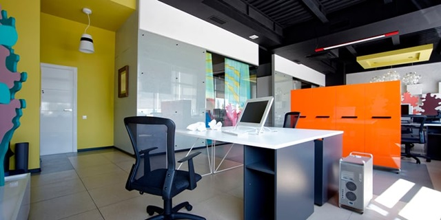Ofis alanları için boya renkleri