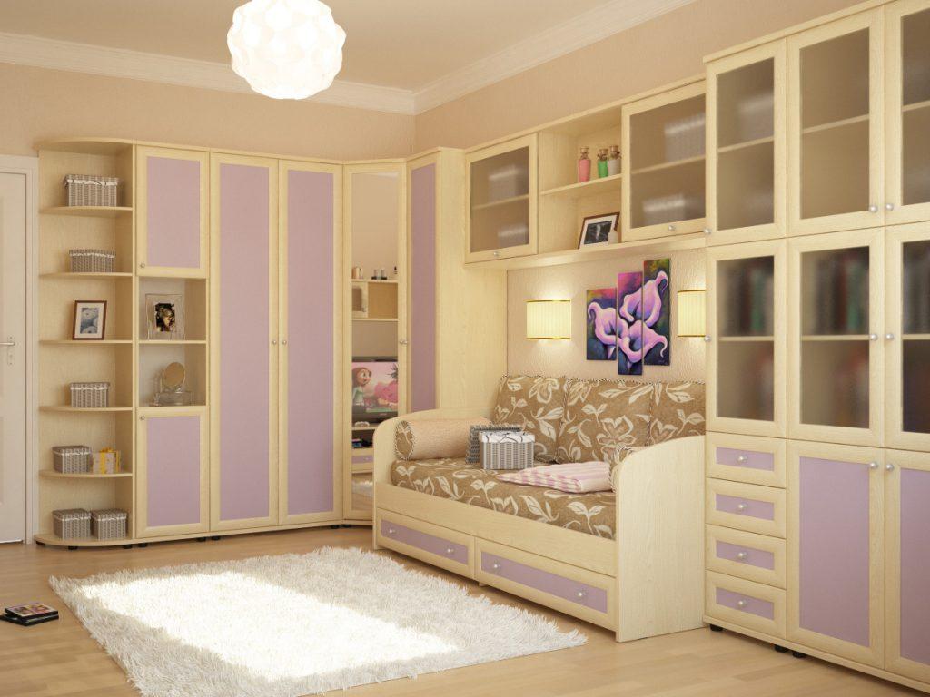 Kız için odanın renk düzeni