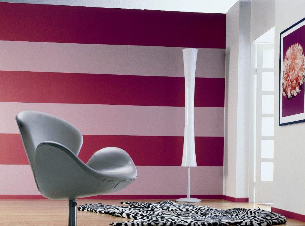 Duvarları iki renkle boyamak